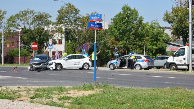 Zderzenie trzech aut na Połczyńskiej