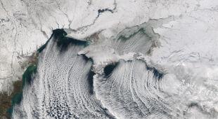 Zima w Europie i w USA na zdjęciach satelitarnych