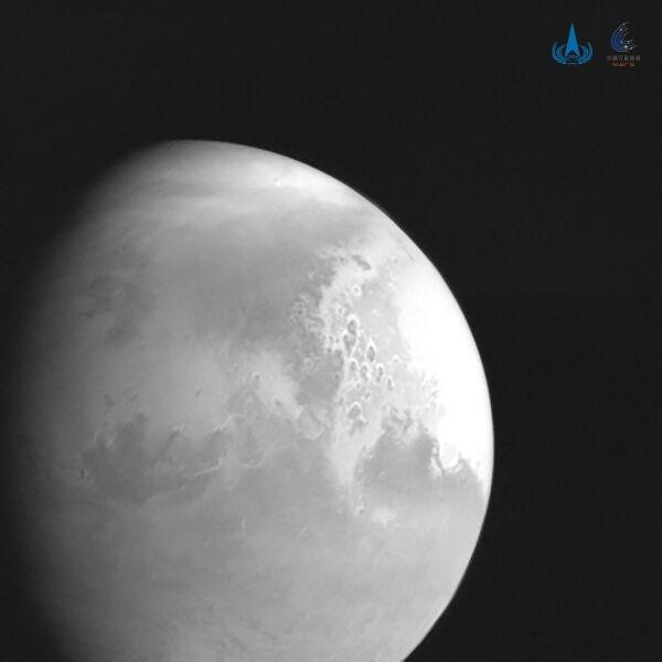 Pierwsze zdjęcie Marsa wykonane przez chińską sondę (PAP/EPA/CHINA NATIONAL SPACE ADMINISTRATION HANDOUT)