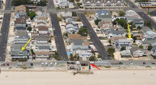 W Seaside Heights fala powodziowa wdarła się na ląd (USGS)