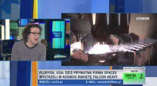 Karol Wójcicki mówi testowym starcie Falcona Heavy